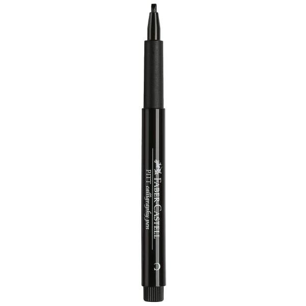 """Faber-Castell """"Pitt Artist Pen C (Calligraphy)"""" Tuschestift - Black"""