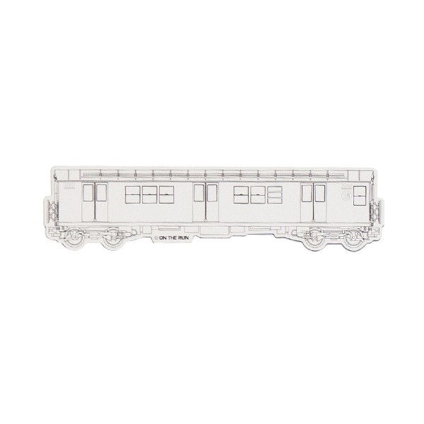 """OTR Magnet """"NY Subway - White"""" Small (14,9x3,7cm)"""