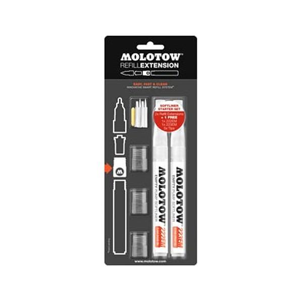 """Molotow """"Refill Extension Set - Softliner Marker"""""""