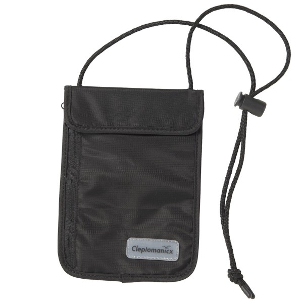 "Cleptomanicx Wallet ""Neck Pouch"" Black"
