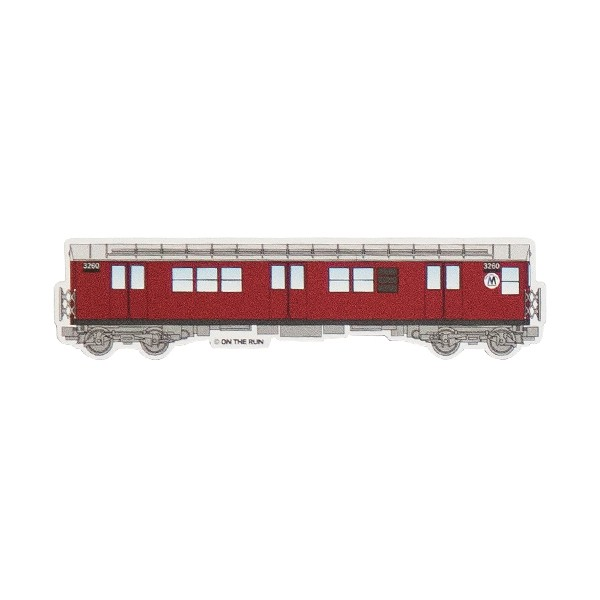 "OTR Magnet ""NY Subway - Burgundy"" Small (14,9x3,7cm)"