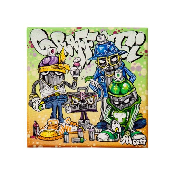 """Boom Boom Erst - Graffiti Hood (Original)"" 20x30cm"