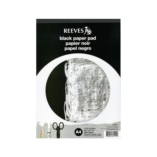 """Reeves """"Black Paper Pad"""" A4"""