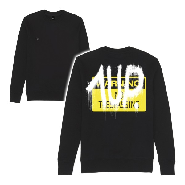 "1UP Sweater ""No Trespassing"" Black"