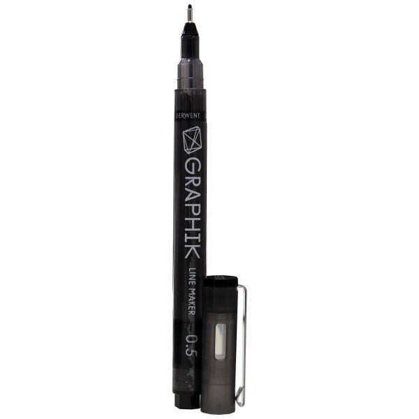 "Derwent ""Graphik Line Marker"" Black (0,5mm)"