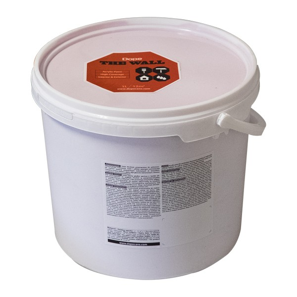 "Dope Streichfarbe ""The Wall"" 5 Liter Rot"