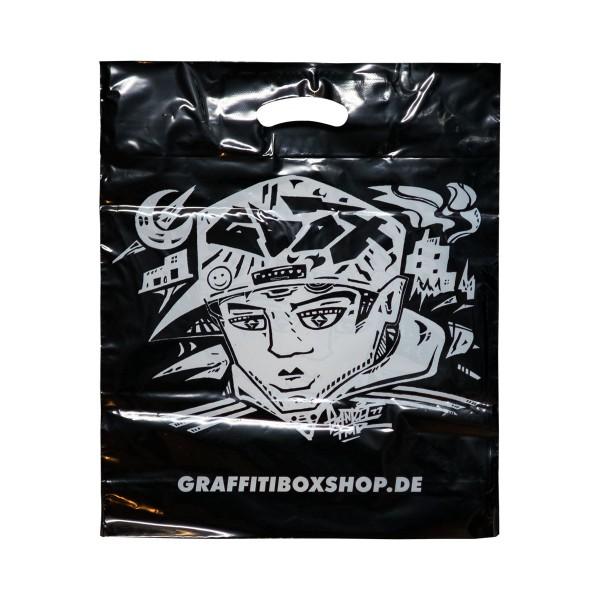 "Graffitibox Plastiktüte ""Bandit77"" Small Black"