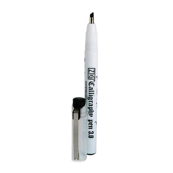 """ZIG """"Calligraphy"""" Marker Oblique/Schräg (3mm) - Black"""