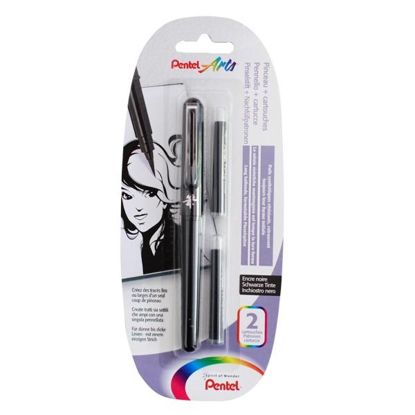 """Pentel """"XGFKP/FP10"""" Arts Pocket Brush Blister inkl. 2 Patronen"""