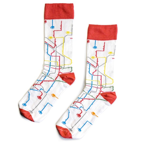 """MTN Socks """"Metro"""" White"""