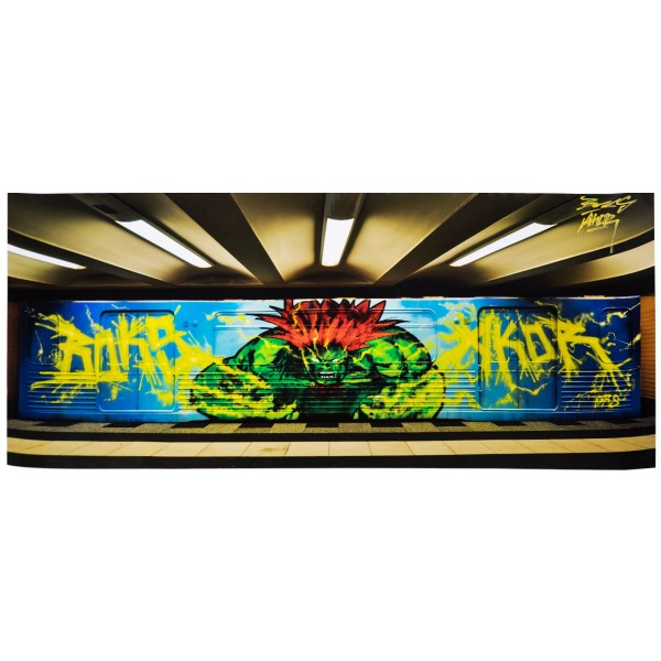 "Poster ""Subway Blanka by Akor & Boks (Damagers)"" 40x100cm (gerollt)"