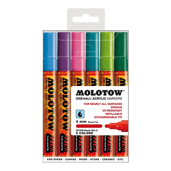"Molotow ""227HS"" One4all 6er Marker Set (4mm) - Basic 2"