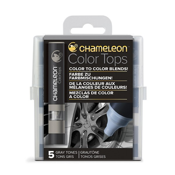 "Chameleon ""5 Color Tops - Grey Tones"""