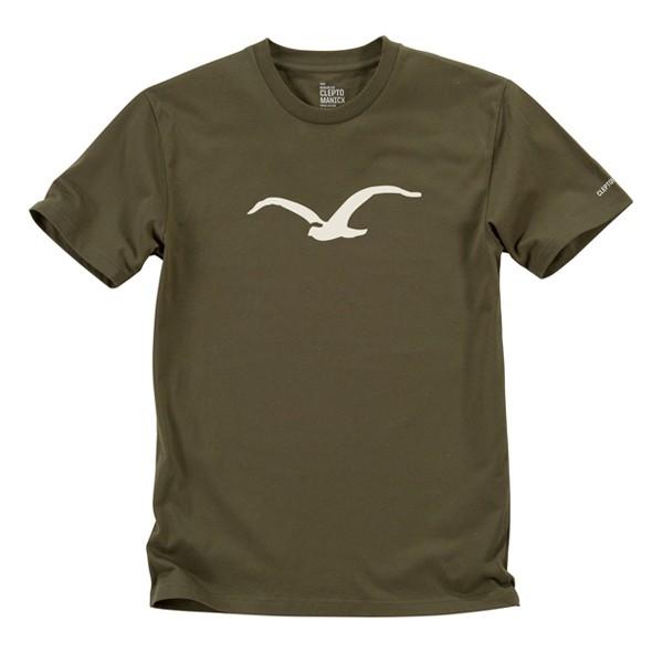 "Cleptomanicx T-Shirt ""Möwe"" Olive Night"