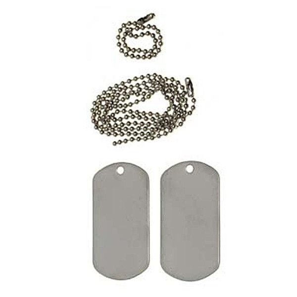 """""""US Dogtag"""" Silver"""