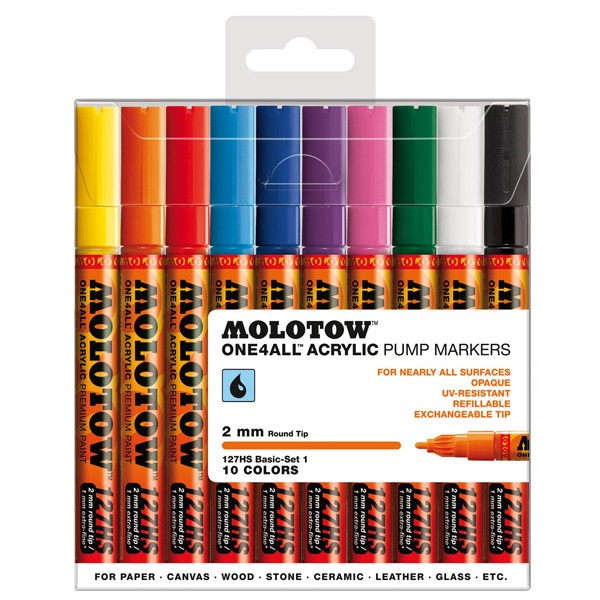 "Molotow ""127HS"" One4all 10er Marker Set (2mm) - Basic 1"