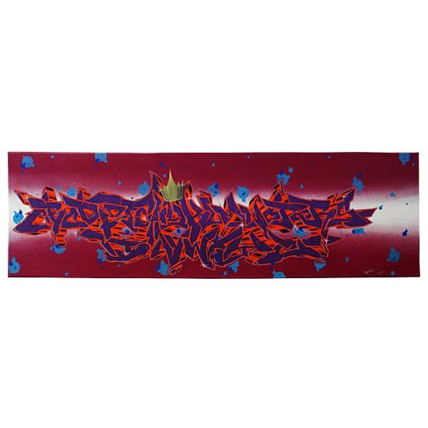 """""""SpukOne - Alphabet Violet (Original)"""" 30x100cm"""