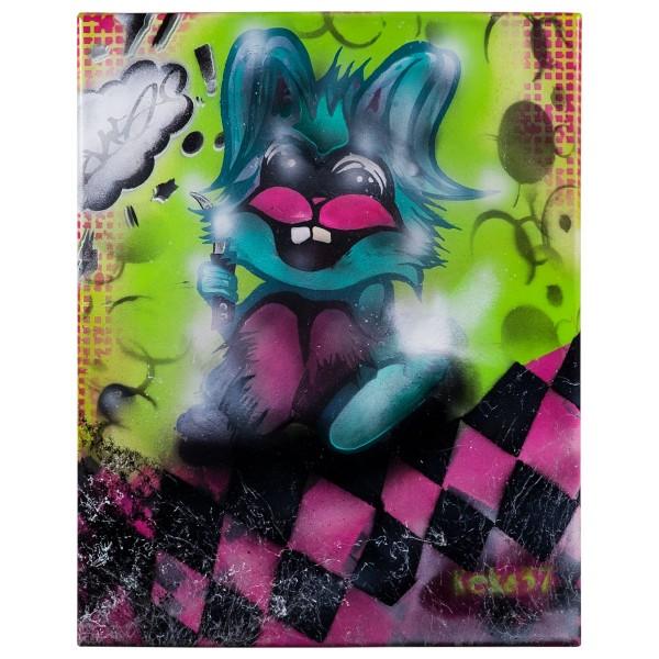 """Keks37 - Follow the Rabbit (Original)"" 40x50cm"