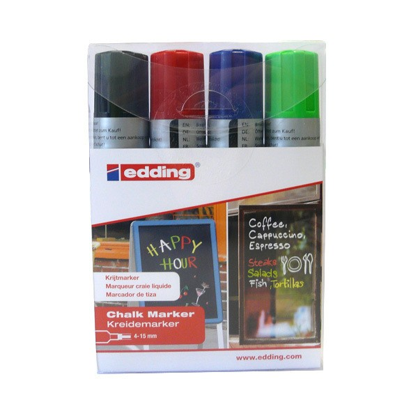 "Edding ""4090"" Window Kreide Marker 4er Set (15mm)"