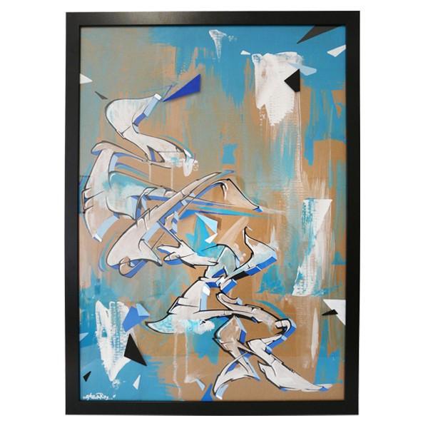"""Skenar73 - Blue Zken (Original)"" 50x70cm"