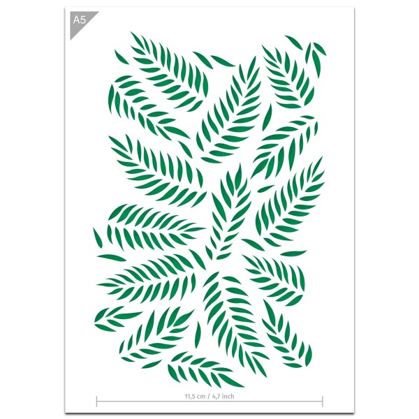 "Plastikschablone ""Pattern #8 - Palm Leaves"" A5"
