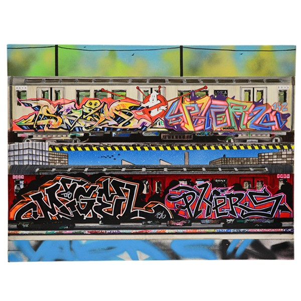 """Phers, Migel & Skim - New York City Panels (Original)"" 60x80cm"
