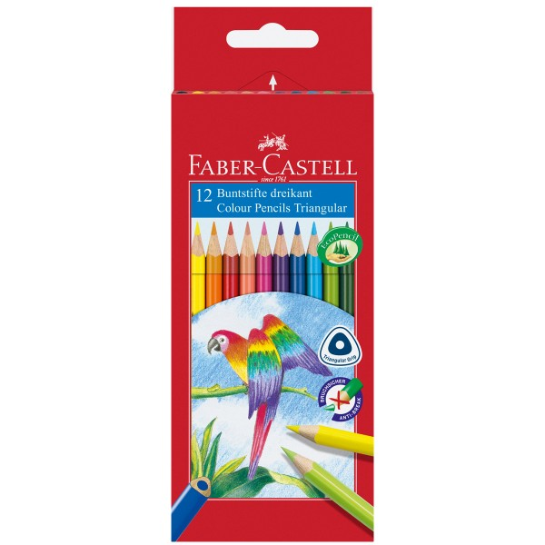 "Faber-Castell ""Dreikant Buntstift"" - 12er Kartonetui"