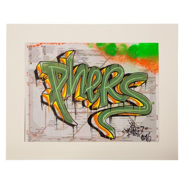 """Phers - Skizze XIV (Original & in Passepartout)"" 40x50cm"