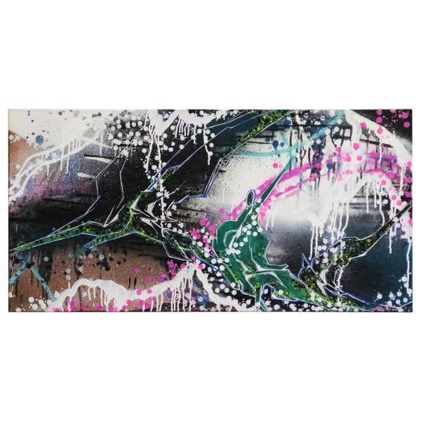 """Meise - Green Dream (Original)"" 50x100cm"