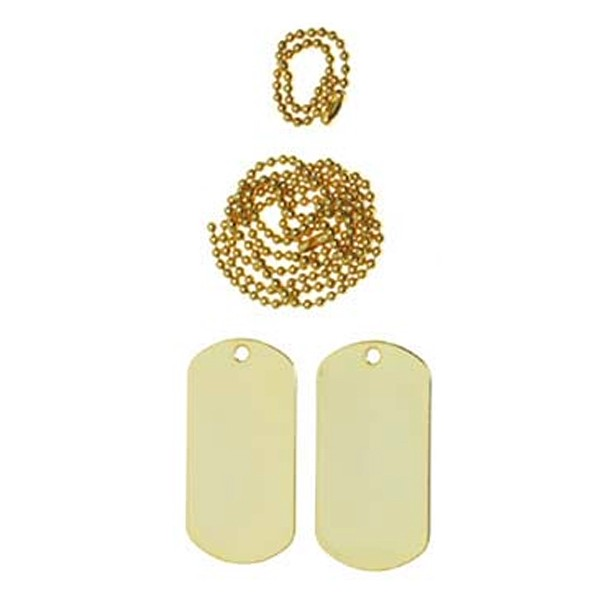 """""""US Dogtag"""" Gold"""