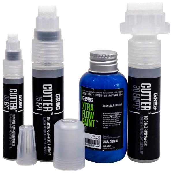 """Grog """"Cutter Marker Refill Set - Blue"""""""