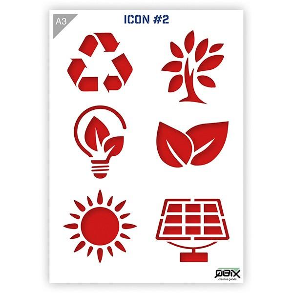 """Plastikschablone """"Icon #2- Eco"""" A3"""
