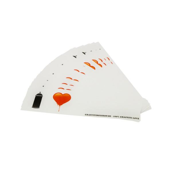 """Stickerpack """"Graffitibox - 100% Graffiti Love"""" 25 Stk. (7x30cm)"""