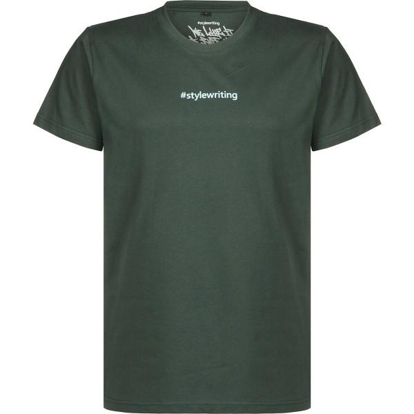 "#Stylewriting T-Shirt ""Logo"" Darkgreen/Aqua"