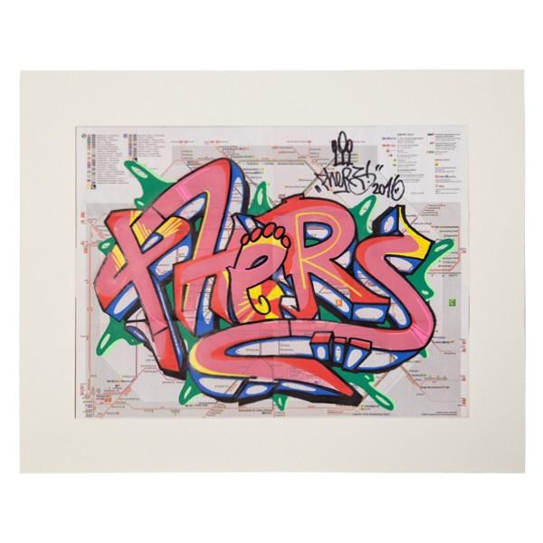 """""""Phers - Skizze XVI (Original & in Passepartout)"""" 40x50cm"""