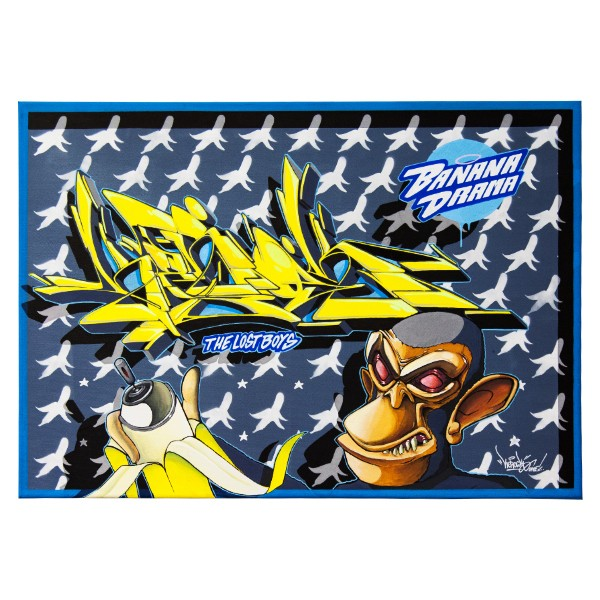 """Kerock - Banana Dream (Original)"" 50x70cm"