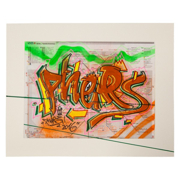 """Phers - Skizze XVIII (Original & in Passepartout)"" 40x50cm"