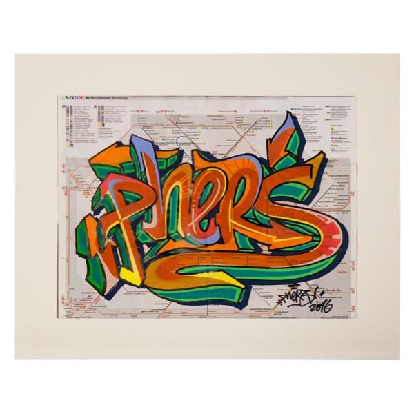 """Phers - Skizze XV (Original & in Passepartout)"" 40x50cm"