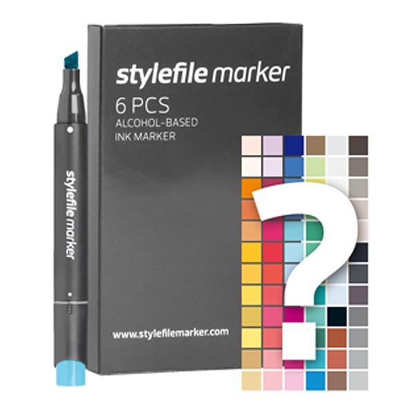 "Stylefile Twin Marker ""6er Tryout Set"""