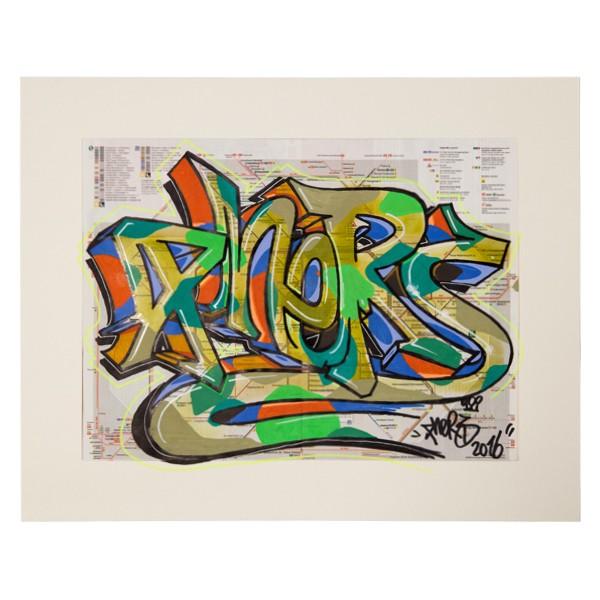 """Phers - Skizze XIII (Original & in Passepartout)"" 40x50cm"