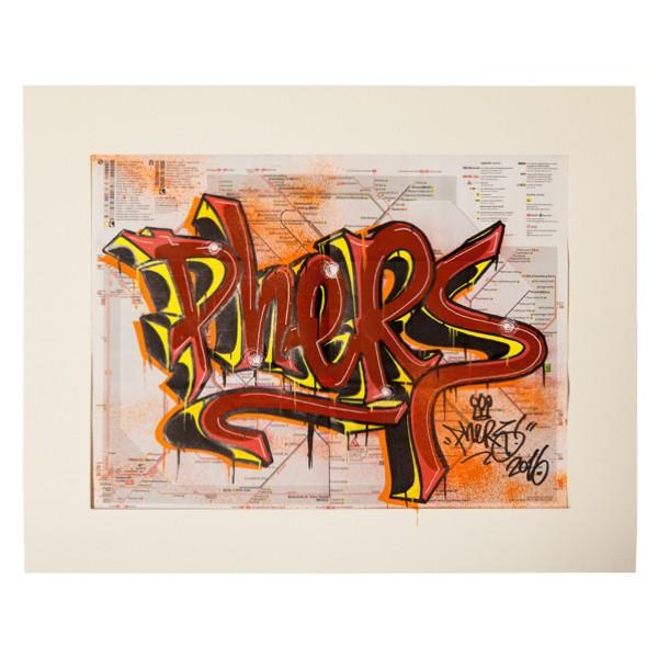 """""""Phers - Skizze VIII (Original & in Passepartout)"""" 40x50cm"""