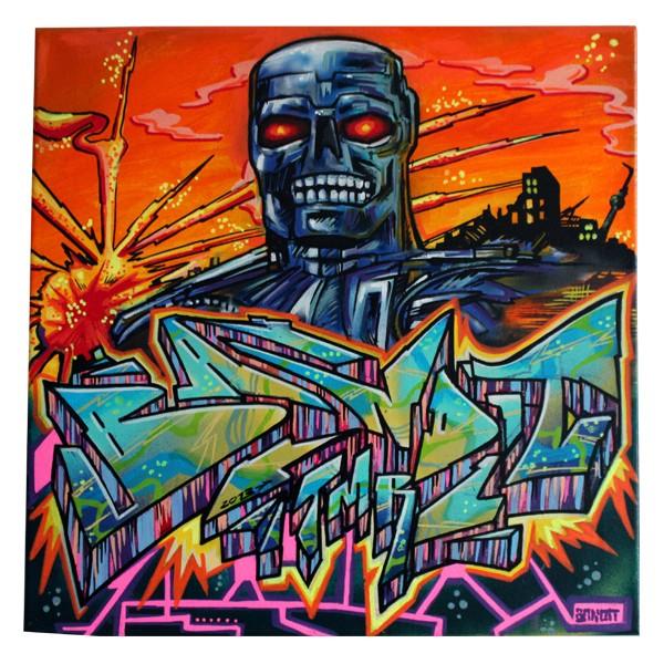 """Bandit 77 - The Last Day (Original)"" 40x40cm"