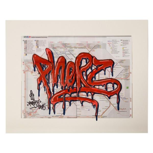 """Phers - Skizze XX (Original & in Passepartout)"" 40x50cm"