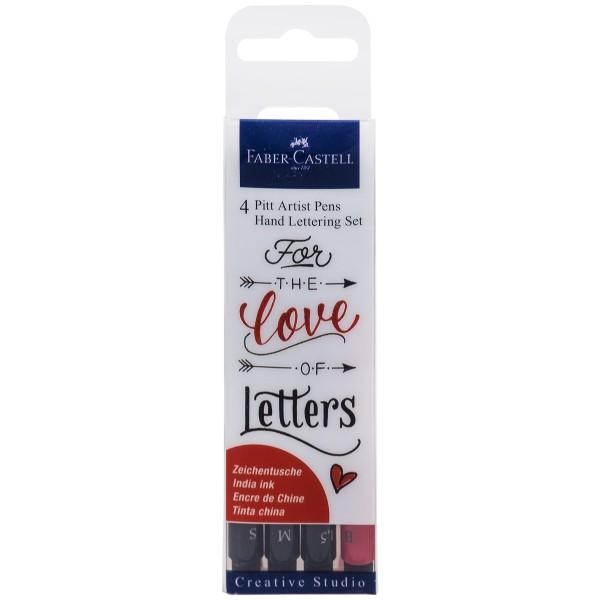"""Faber-Castell """"Pitt Artist Pen"""" Tuschestift 4er Set - Love Lettering"""