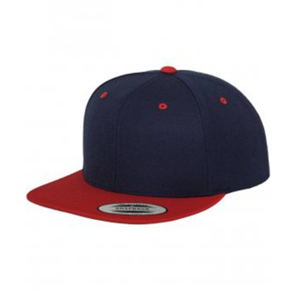 "Flexfit ""5 Panel Snapback Cap"" Navy/Red"