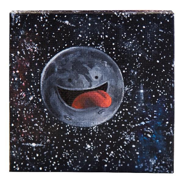 """Der Schmierfink - Moon II (Original)"" 8x8cm"