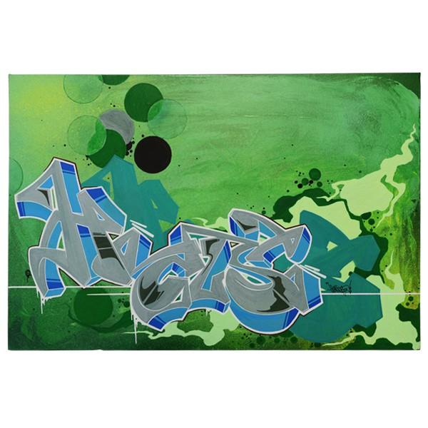 """""""Hocus77 - Blaugraue Hocusnuss (Original)"""" 40x60cm"""