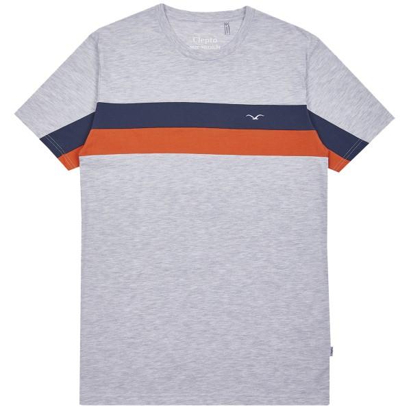 "Cleptomanicx T-Shirt ""Faster"" Light Heather Gray"