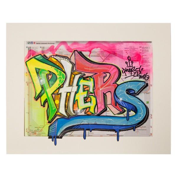 """Phers - Skizze XI (Original & in Passepartout)"" 40x50cm"