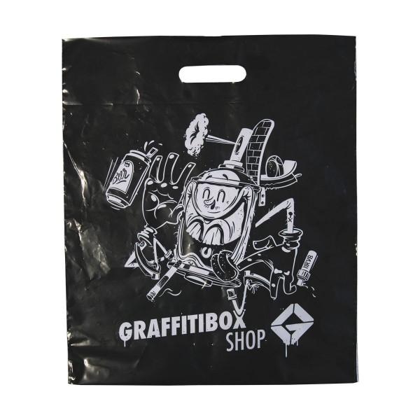 """Graffitibox Plastiktüte """"Herr von Bias"""" Small Black"""